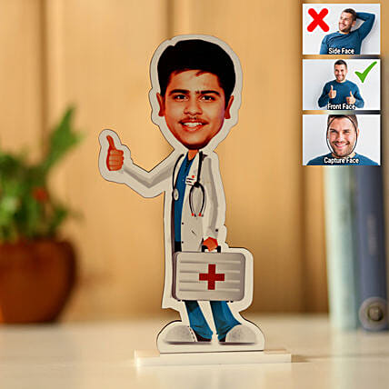Personalised Male Doctor Caricature: Caricatures