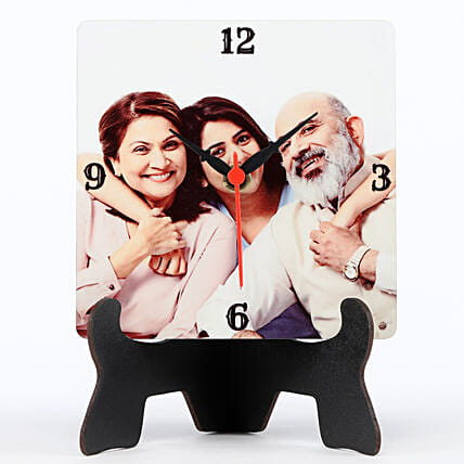 Personalised MDF Table Clock: Gifts for Parents Day