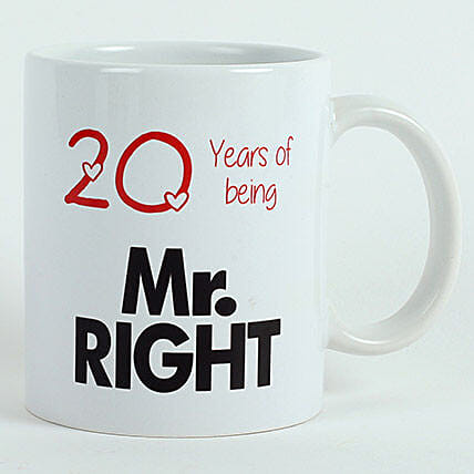 Personalised Mr Right Mug: Gifts to Udhampur
