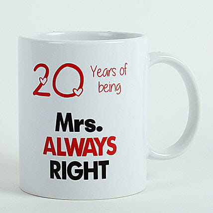 Personalised Mrs Right Mug: Gifts for 60Th Birthday