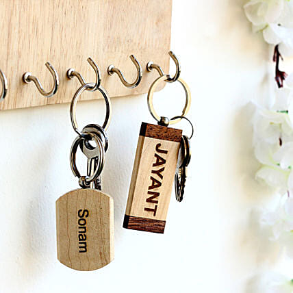 Personalised Name Key Chains Set of 2: Personalised Keychains
