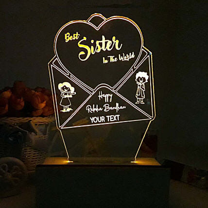 Personalised Night Lamp For Best Sister In World: