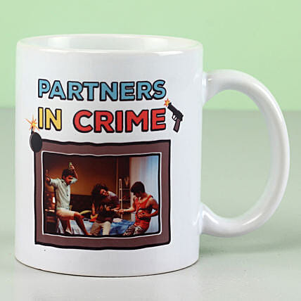 Personalised Partners In Crime Mug: Gifts For Friendship Day