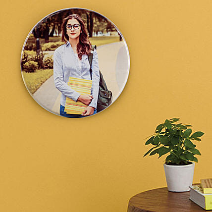 Personalised Round Tile Frame: Personalised Photo Frames