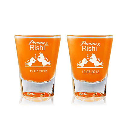 Personalised Set Of 2 Shot Glasses 2314: