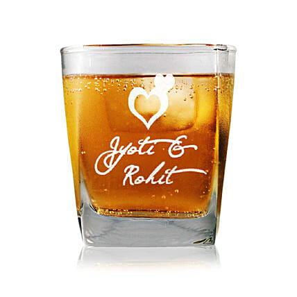 Personalised Set Of 2 Whiskey Glasses 2339: Bar Accessories