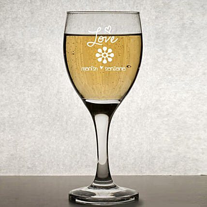 Personalised Set Of 2 Wine Glasses 1019: