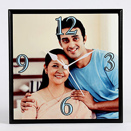 Personalised Square Wall Clock: