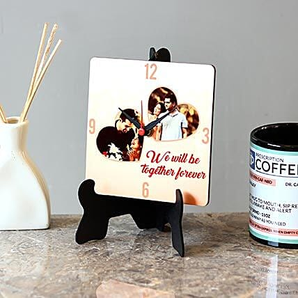 Personalised Together Forever MDF Table Clock: Personalised Clocks