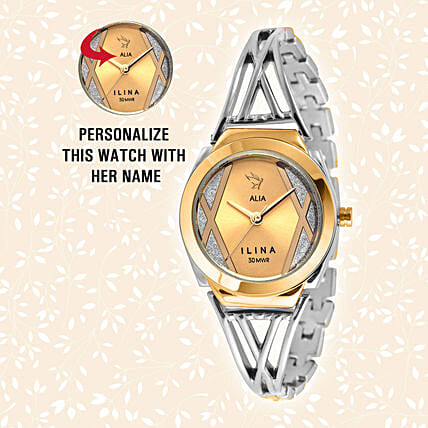 Personalised Trendy Silver & Golden Watch: Buy Watches