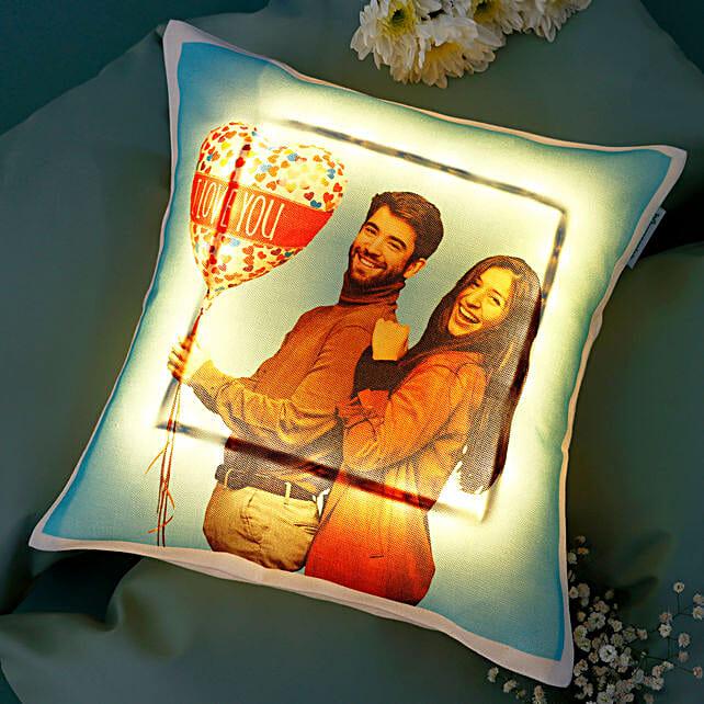 Personalised V-Day LED Cushion: Personalised Cushions for Valentine