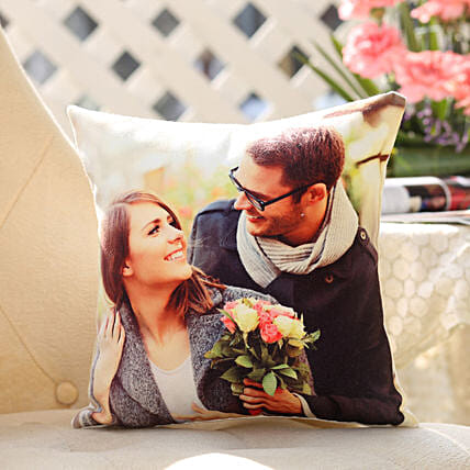 Personalised Romantic Cushion: Gifts to India