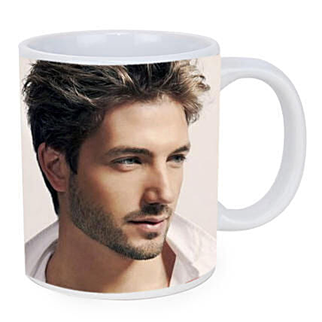 Personalised White Ceramic Mug: Personalised gifts for anniversary
