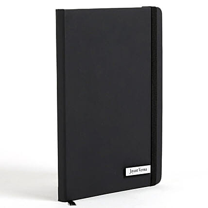 Personalized Black Notebook: