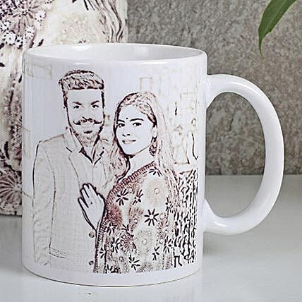 Personalized Couple Sketch Mug: Personalised Caricatures