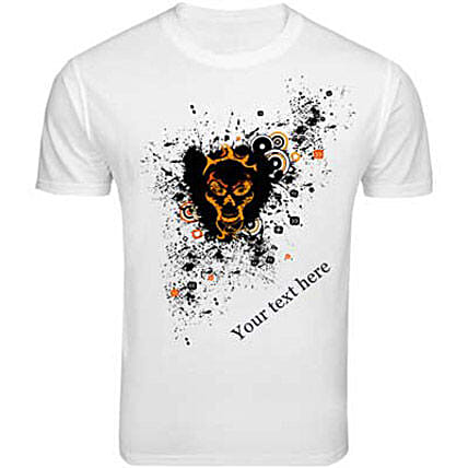 Personalized Groovy Print T shirt: Personalised T Shirts