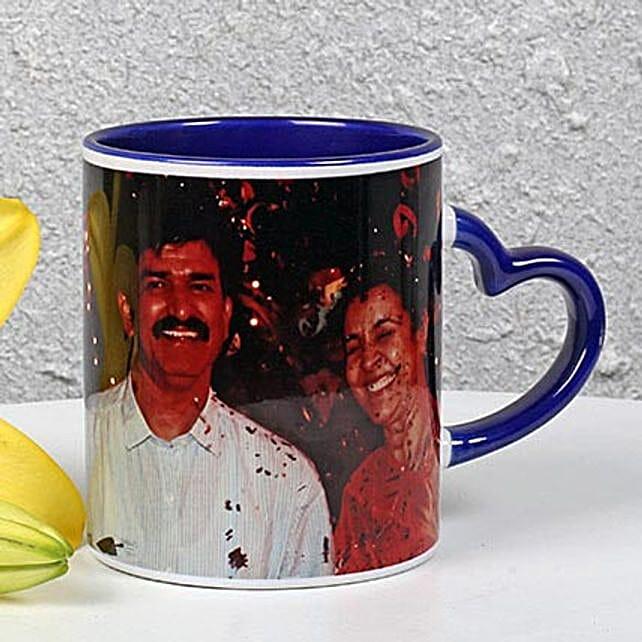 Personalized Ink Blue Ceramic Mug
