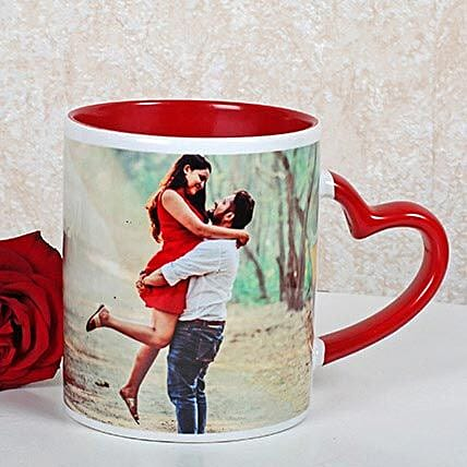 Personalized Red Ceramic Mug: Buy Coffee Mugs