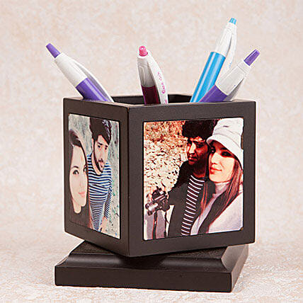 Personalized Rotating Pen Holder Birthday Gifts For Boys Men