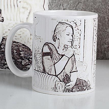 Personalized Sketch Mug: Send Caricatures