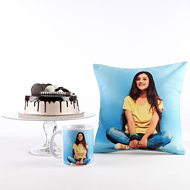 Photo Cushion, Mug & Cake Combo For Her: Cushions