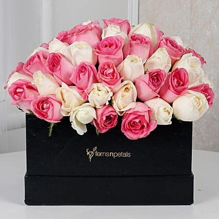 Pink N White Floral Delight:
