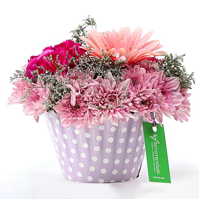 Pink & Purple Mix Flower Arrangement: Mixed flowers