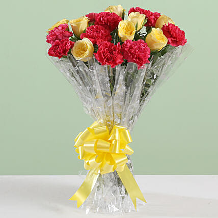 Posy Of Carnations & Roses: Roses