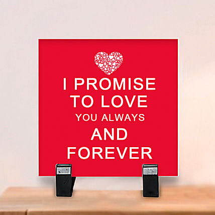 Promise to Love: Plaques