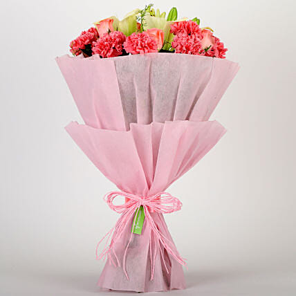 Ravishing Mixed Flowers Bouquet: Gifts Delivery In Vikas Nagar