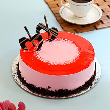 Red Glaze Strawberry Cake: Easter Gifts