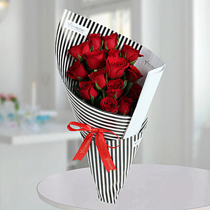 Red Roses Bunch Of Love: Diwali Flowers
