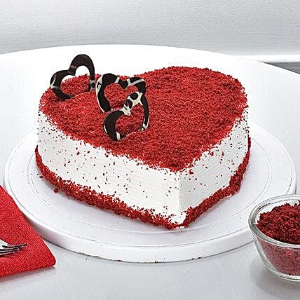 Red Velvet Heart Cake Shaped Cakes