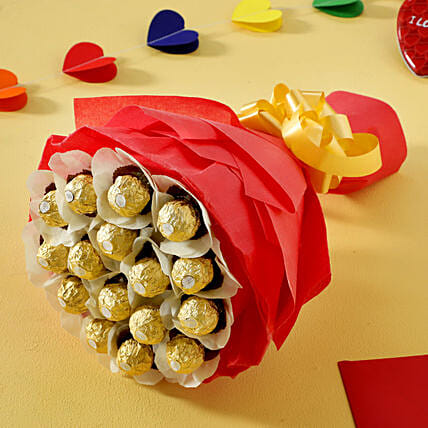 Rocher Choco Bouquet: Gifts Delivery In Dilshad Garden