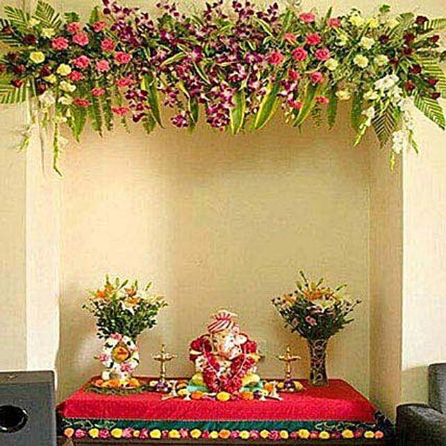 Scintillating Floral Ganpati Decoration: Ganesh Chaturthi Gifts