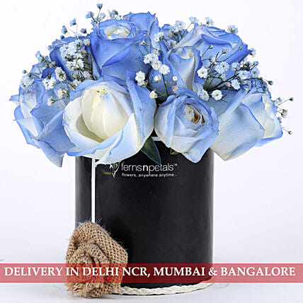 Shaded Love- Blue Roses Arrangement: Premium Gifts