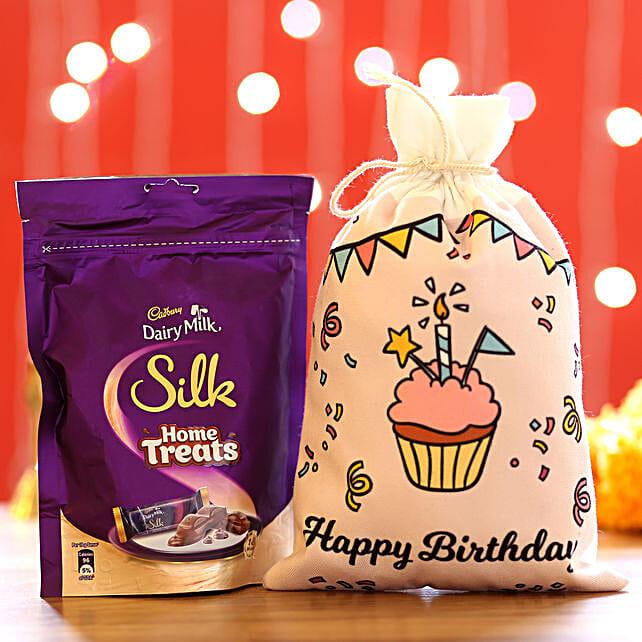 Silk Home Treats & Birthday Gunny Bags: Cadbury Chocolates