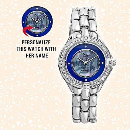 Silver Personalised Watch: Personalised Watches