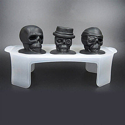 Skull Ice Mould Set Of 3: Unique Gifts