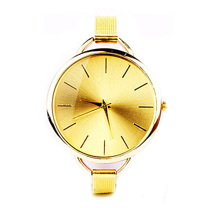 Sleek Chic Gold Watch For Women: Watches