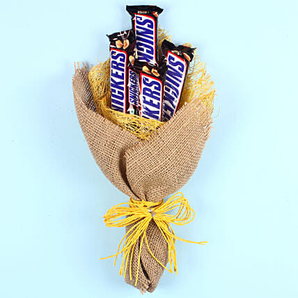 Snickers Chocolate Bouquet: Mothers Day Chocolates