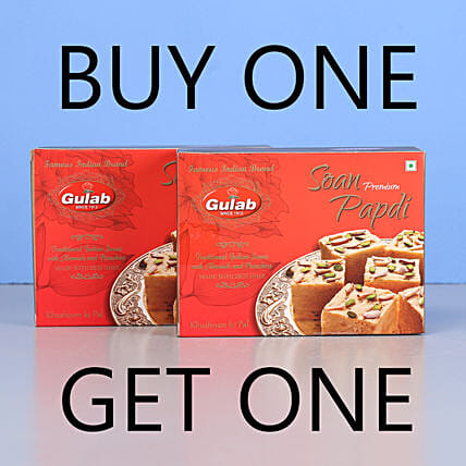 Soan Papdi Sweets- Buy 1 Get 1: Gifts for Onam