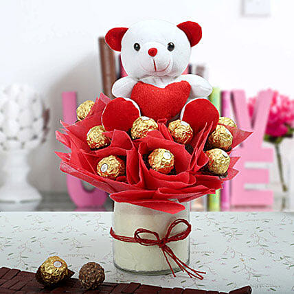 Ferrero Rocher & Teddy Bear Arrangement: