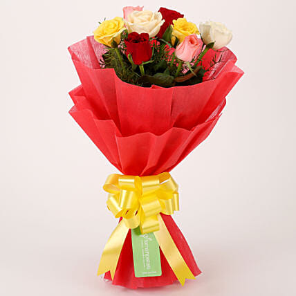 Special Mixed Roses Bouquet: Gifts for Hug Day