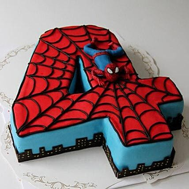 Spiderman Birthday Cake: Alphabet N Number Cakes