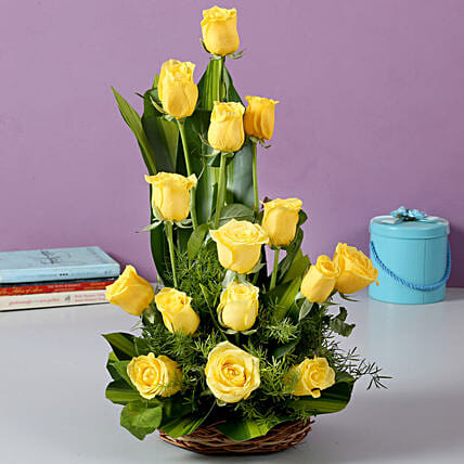 Sunshine Yellow Roses Bouquet: Roses