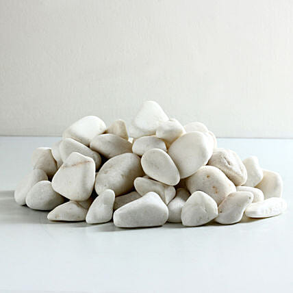 Super White Decorative Pebbles 10 To 15 mm: Gardening Pebbles