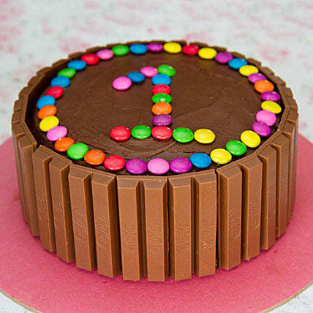Supreme Kit Kat Cake 1st Birthday Cakes