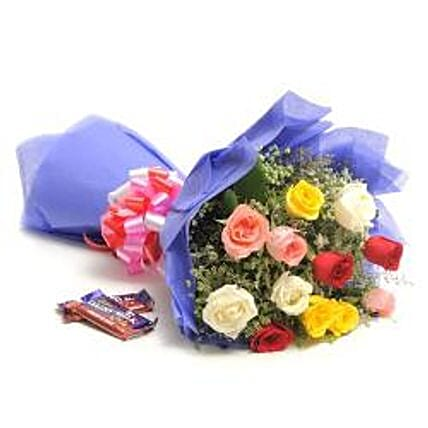 Sweet Mix Roses: Flowers N Chocolates - anniversary