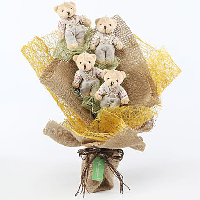 Sweet Teddy Bear Bouquet: Send Soft Toys